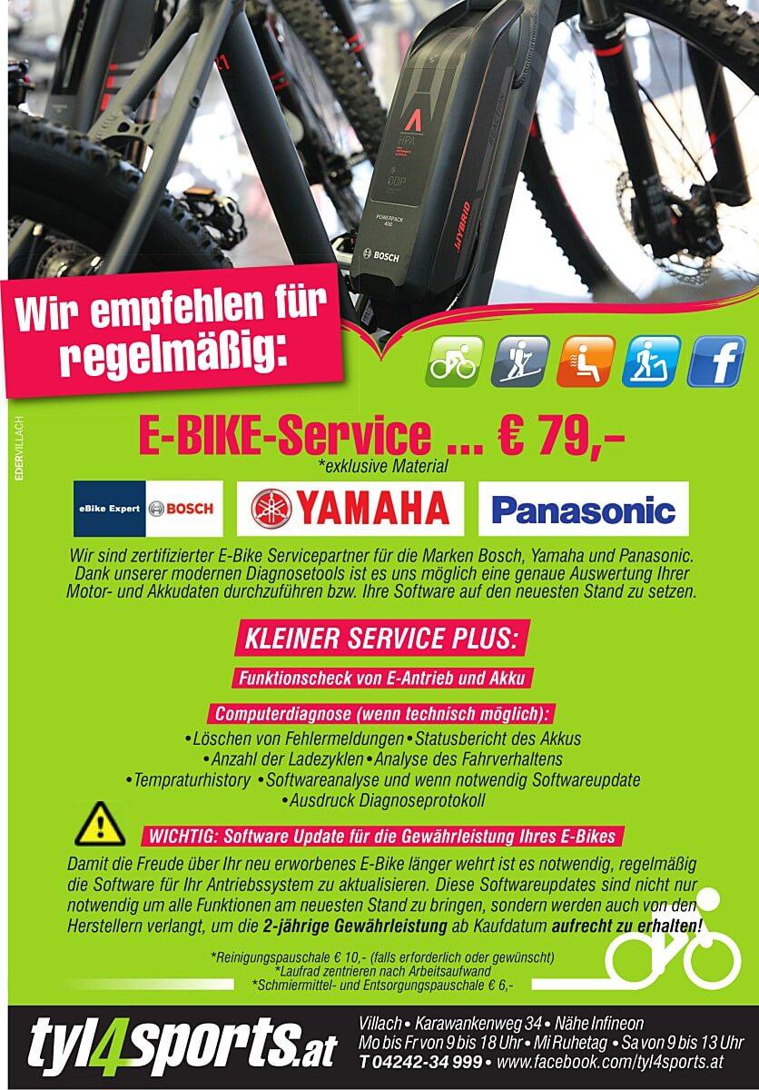Wir empfehlen E-Bike Service