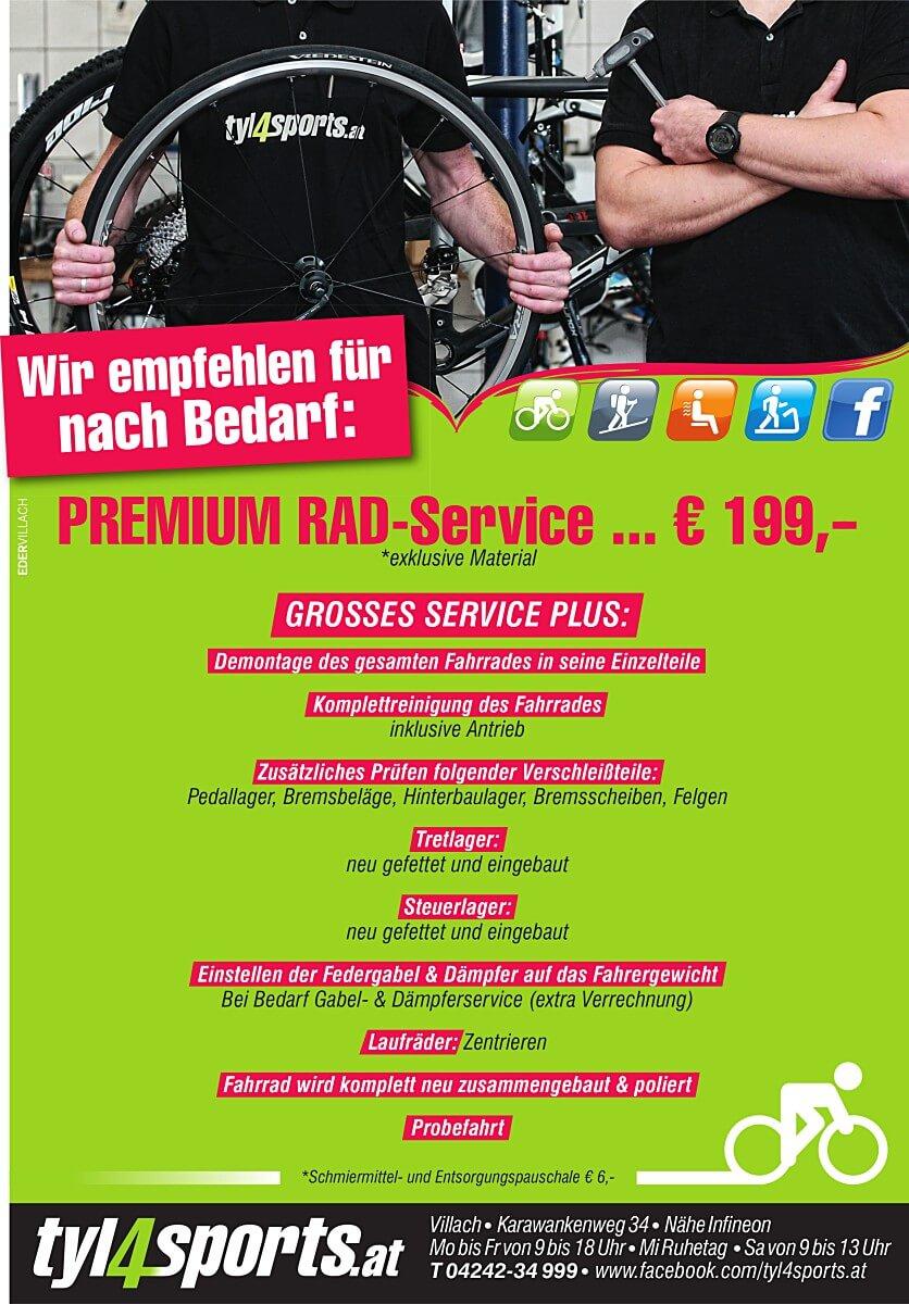 Wir empfehlen Premium Service